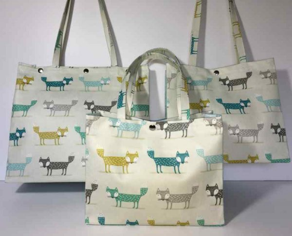 Foxy Fox Teal and Duck Egg Plain Collection