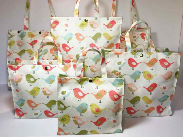 Scandi Birds Tweety Fruity Plain Olive Collection