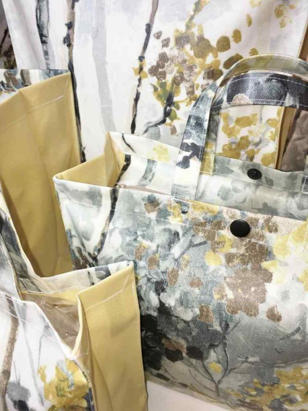 Silver Birch Shadow and Mustard Close Up